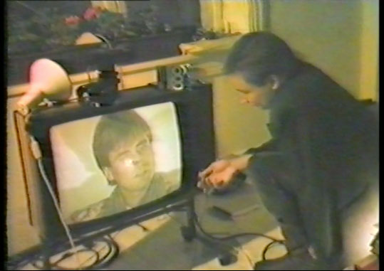 Morten Børresen, stillbilde fra Akademistudenten, video, 1983.