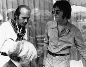 Al Hansen sammen med John Lennon og Andy Warhol.